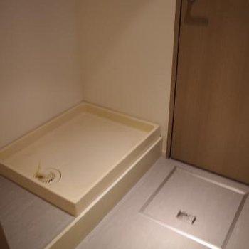 洗濯機置場と脱衣所です