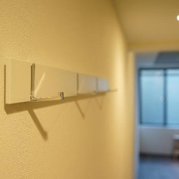 壁に掛かるフックもあると使える!※写真は前回募集のもの