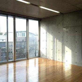 スタジオのような広さ。