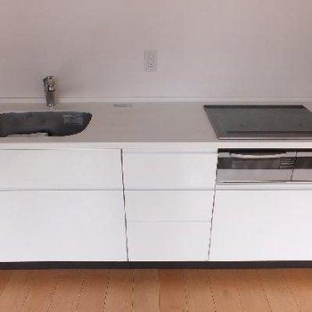 大きめのシステムキッチンです。