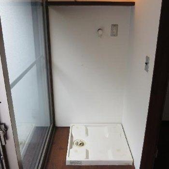 洗濯物はこちらで。