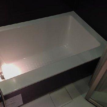 どうでしょう、この艶、輝き・・・。ただの浴槽ではありません。※写真は別部屋です