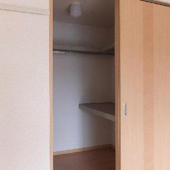 ウォークインクローゼット!※画像は別室ですが広さは同じくらいです