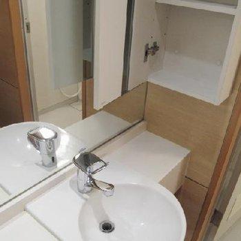 使い勝手良さそうな洗面所ですね。※写真は別タイプのお部屋です