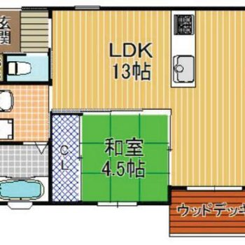 モダンな和室があるひと部屋です。