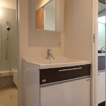 独立洗面台・脱衣所。