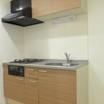 システムキッチン、素敵!2口ガスコンロです。※写真は別部屋
