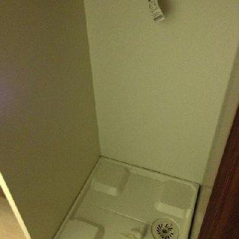 洗濯機置き場もしっかり室内に。※写真は別部屋(反転)