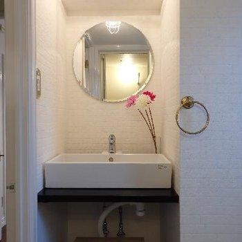洗面台もオシャレで可愛く※写真は前回募集時のものです。