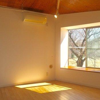南西向きの出窓から、暖かい日差しが差し込みます。