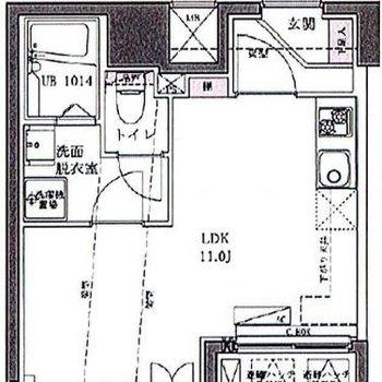 1LDKの11帖の広いお部屋です!