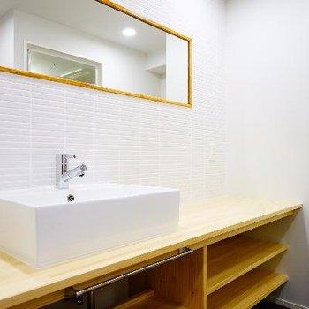 洗面台も幅広で使いやすい!※写真は前回募集時のものです