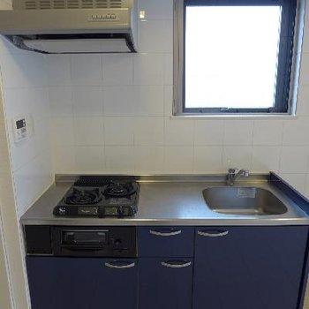 キッチンはブルー!