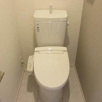個室トイレでウォシュレット付き言うことありません!