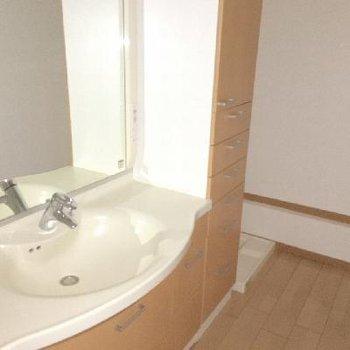 3階の洗面台はバツグンの収納力です