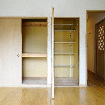 7.4帖のお部屋の収納は大容量◎