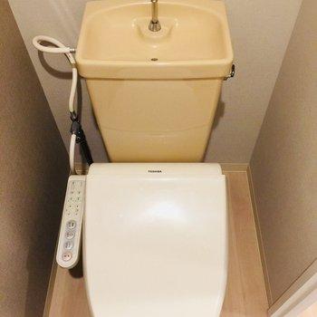 トイレも壁がかわいい