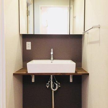 洗面所のほっこりデザイン、たまりません!