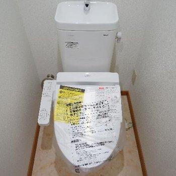 トイレも新しく機能的に!
