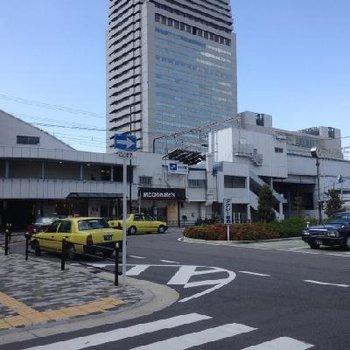 弁天町駅の南口。左の方向に歩いて3分くらいで着きます。