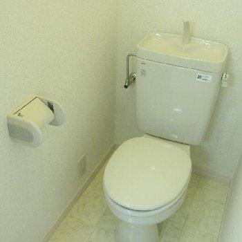 お手洗いの空間もゆったり