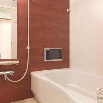 お風呂にテレビが付いていますが、ラジオ機能のみ!