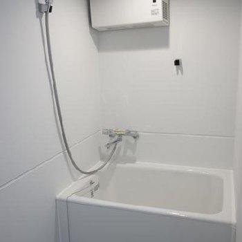 お風呂はシャワーカーテンで仕切られます※写真は別室