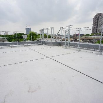 EBISUの屋上で