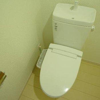 トイレはウォシュレット付。