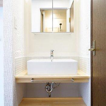 洗面台も可愛いデザイン♪