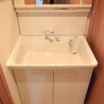 洗面台も広いので使いたい放題