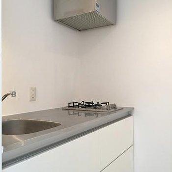 キッチンもスタイリッシュ2口ガス