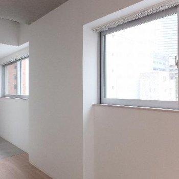 南向きに窓が2枚あって、電気をつけなくても明るいお部屋です。