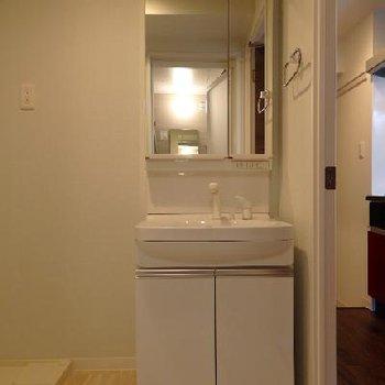 独立洗面台・ゆったりした脱衣所