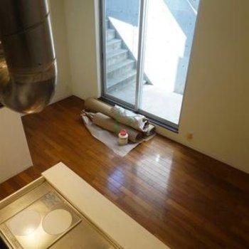 ロフトの上からこんな感じ。※写真は別部屋
