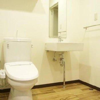 洗面所はトイレと一緒※写真は302号室