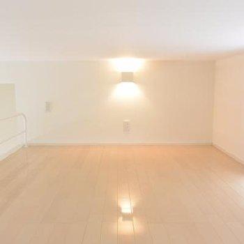 天井は低いですが綺麗なロフト