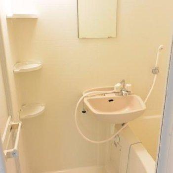 洗面はお風呂場で…