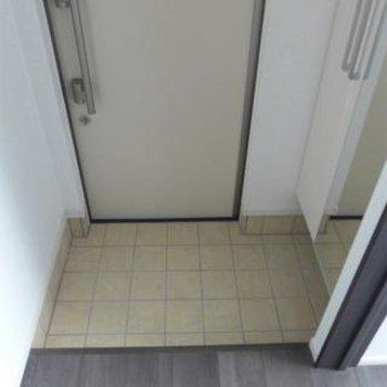 玄関。姿鏡が良い!収納も問題なし。※写真は別部屋