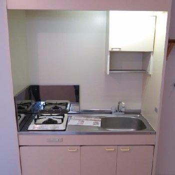 コンパクトだけど調理スペース有ります。※写真は前回募集時のもの