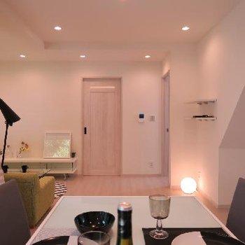 スペースがゆったりとれるL字型のお部屋。