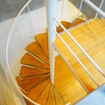 螺旋階段を上がって・・
