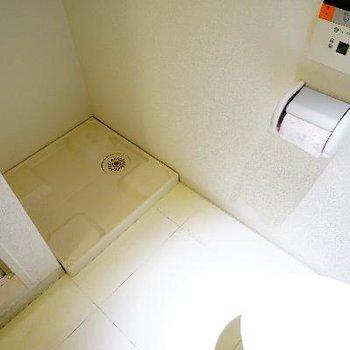 洗濯機はトイレの前へ