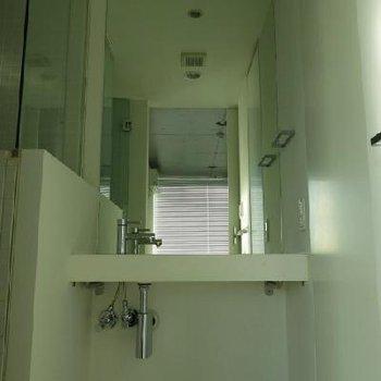 独立洗面台。※写真は別室です