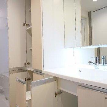 洗面台の収納がすごい!