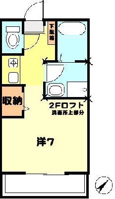ひばりケ丘12分アパート の間取り