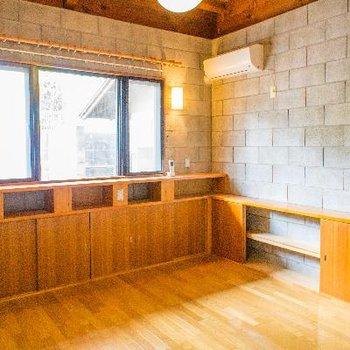 9帖の洋室には大きな窓と大容量の収納!