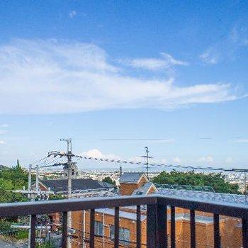共用屋上からの眺望はとっても綺麗です♪
