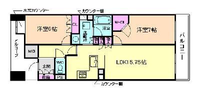 BELISTA神戸旧居留地 の間取り