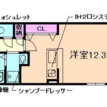 贅沢な12帖超えの居室。